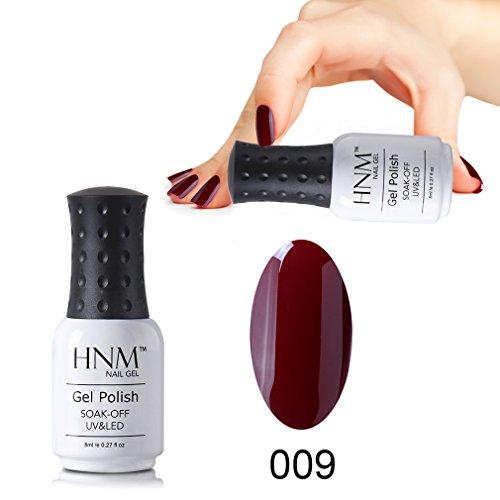 HNM Vernis à Ongles Semi Permanent Couleur Rouge Magnifique Parfait pour Vos Ongles UV LED Soak off 8ml-09