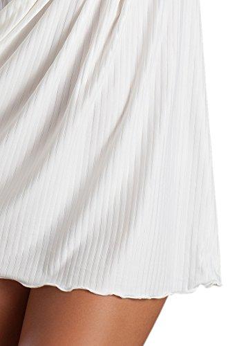 Hochwertiges Negligee Set M1567 in weiß mit Spitze Weiß