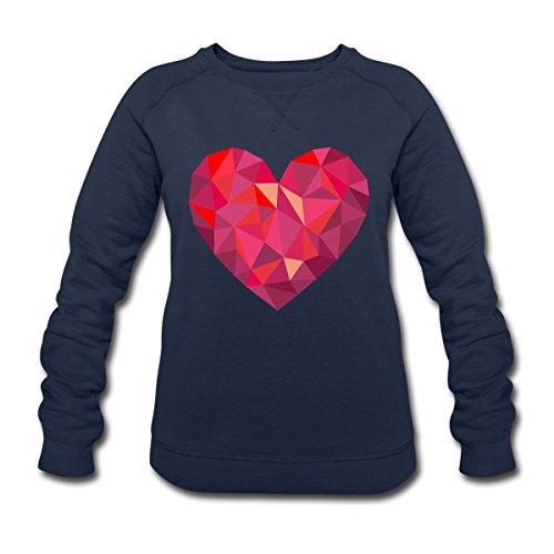 Saint-Valentin Cœur Géométrique Low Poly Sweat-shirt Femme Stanley & Stella de Spreadshirt® Bleu Marine