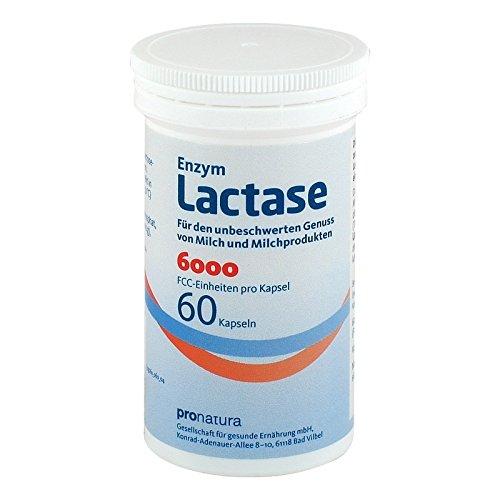 Lactase-enzym 100 Kapseln (Enzym Lactase 6000 FCC Pro Natura, 100 St. Kapseln)