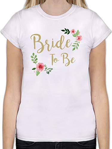 JGA Junggesellinnenabschied - Bride to Be - M - Weiß - L191 - Tailliertes Tshirt für Damen und Frauen T-Shirt
