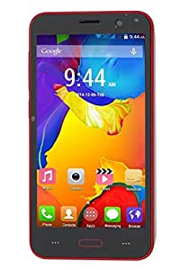 Admet J5 Dual SIM 5 Inch Display Android 5.0.2 Lollipop with 1 GB RAM and 4 GB Internal Memory (Red)