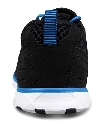 Santiro Le Glissement de l'homme Sur Sneaker Mesh Chaussures Haute-eau Noir