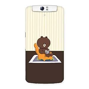 Teddy Sitting Back Case Cover for Oppo N1