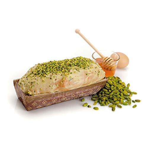 A' ricchigia - pandolce artigianale ricoperto di cioccolato e granella al pistacchio farcito con crema al pistacchio - 300 gr