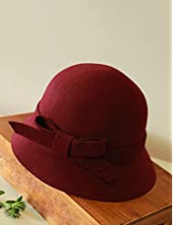 Rétro personnalité Automne Hiver chapeau féminin chaud réglable (4 couleurs facultatives)