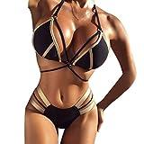 Darringls Bikini Damen Set Badebekleidung Frauen Push Up Gepolsterter BH Strand Bikini Set Badeanzug Bademode Bikini Sets Bademode Tankini Strandmode