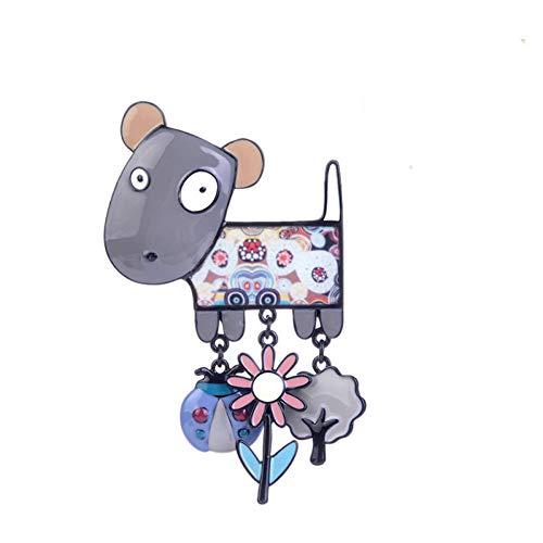 Kostüm Ein Zwei Halten Hunde Geschenk - CCJIAC Emaille Broschen Frauen Cartoon Niedlichen Tiere Hund Mädchen Brosche Trendy Charming Chic Kleine Hund Broschen Pins Modeschmuck