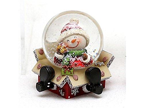 Globo de nieve original y divertido, tamaño aprox. 6,5x 6cm/diám