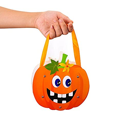 Children Halloween Candy Bags,BAFFECT® Halloween Pumpkin Candy Bucket DIY Package Children Party Storage Bag Food Package for Kids School Halloween (Pumpkin)