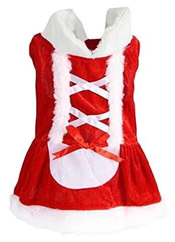 Y-BOA Vêtement Chien Déguisement Père Noël Pet Costume Manteau Chaud