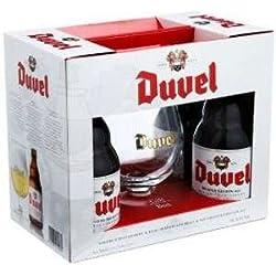 Cerveza Duvel Pack Promocional De 4 Botellas De 33Cl. + Copa