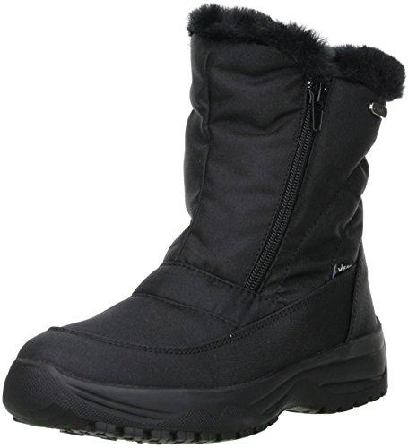 Vista Damen Snowboots Winterstiefel Stiefeletten EISKRALLEN schwarz, Größe:39, Farbe:Schwarz