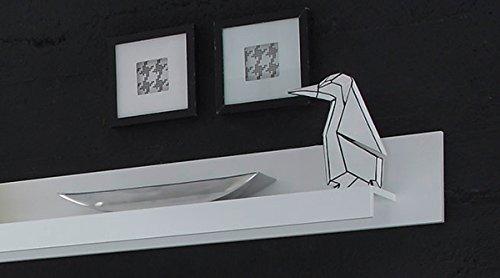 Wohnwand Anbauwand mit LED-Beleuchtung 440939 weiß 330cm 4-teilig - 6