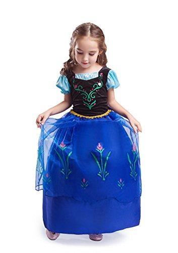 ELSA-ANNA-Princesa-Disfraz-Traje-Parte-Las-Nias-Vestido-Girls-Princess-Fancy-Dress-ES-DRESS208-SEP