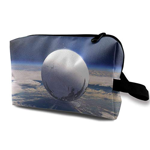 Travel Cosmetic Bag Planet Space Lady Make-up Organizer Clutch Bag with Zipper Toiletry Storage Pouch