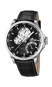 Reloj analógico Lotus 15846/4 de cuarzo para hombre, correa de cuero color negro (agujas luminiscentes)