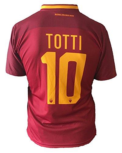 Camiseta de fútbol para niños o adolescentes, Roma, Francesco Totti, 10, réplica autorizada, 2017-20108, niños, adolescentes, Größe XLarge