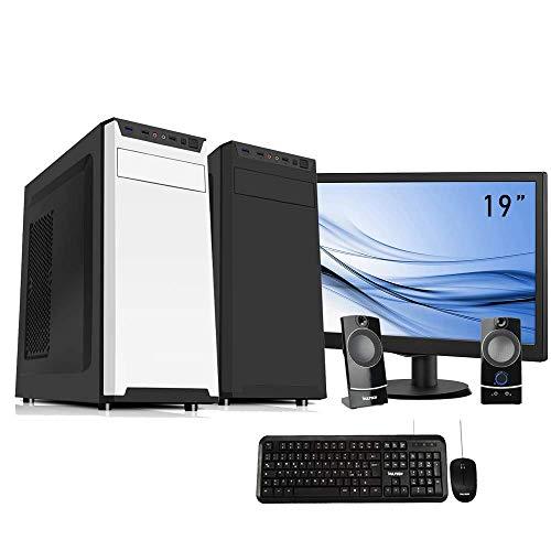 Pc desktop intel quad core,ram 8gb,hdd 1 tb ,windows 10 pro computer fisso,pc fisso intel, completo casa ufficio ,monitor 19