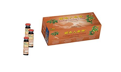 Ginkgo GINSENG Extract - 30 x 10 ml Trinkampullen - Großpackung, Yin Xing Ren Shen Jing - Energie Trinkkur