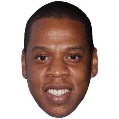 Jay Z Maske aus Pappe
