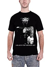 Darkthrone T Shirt A Blaze In The Northern Sky band logo Nue offiziell Herren
