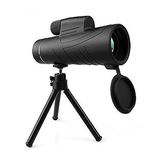 Descripción: Ampliación de 10X y gama amplia de 42mm de alcance son perfectos para la monocular óptica en sus actividades al aire libre, como la observación de pájaros en el patio trasero, la caza, la escalada, la vista topografía, etc  No es un mono...