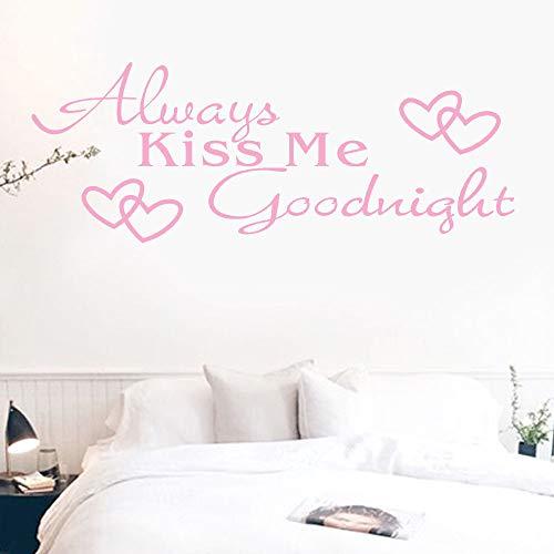 Amphia - Küssen Sie Mich Immer Goodnight Love englisches Sprichwort Wall Sticker Papier.Küssen Sie Mich Immer Goodnight Home Decor Wandaufkleber Aufkleber Schlafzimmer Vinyl Kunst Wandbild