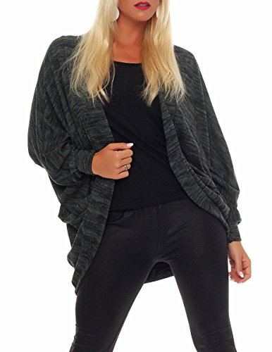 malito Cardigan im Melierten-Design Jacke 5031 Damen One Size