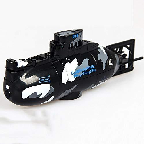 AIOJY Spielzeugboot Mini 2,4 GHz U-Boot Kind Sommer Wasser Umweltschutz Kunststoff Schiffe Spielzeug Verhindern Wassereintritt Militär Modell Aufladbare Simulation RC Fernbedienung Boot (Color : B) (Kunststoff-militärs)