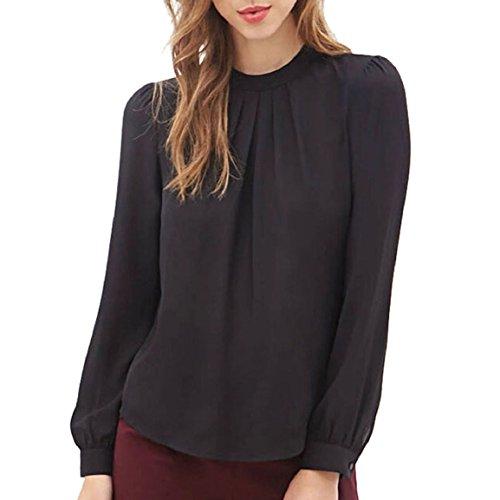 culaterr-las-mujeres-del-verano-ocasional-de-la-gasa-de-manga-larga-tops-camisa-blusa-l-negro