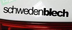 SCHWEDENBLECH Sticker low sweden deep Elch Tuning Aufkleber Decal - DUB (schwarz außenklebend)