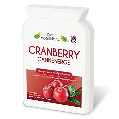 Pilules de Complément Concentré de Canneberge (Cranberry) pour les Infections Urinaires. Equivalent à 12600 mg de Canneberge Frais ! Renforcez la Santé de vos Reins, votre Vessie ou Système Urinaire, pour Hommes et Femmes. Fini les Jus de Canneberge!