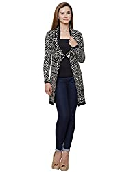 MansiCollections Monochrome long Cardigan for Women