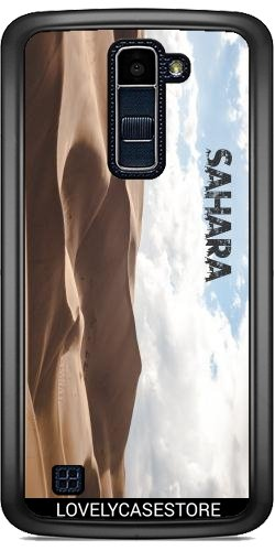 Hülle für LG K10 2017 - Wüste Sahara Sky Blue Arid Dürre Düne Oase