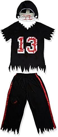 Footballeur Americain - Smiffys - Costume Footballeur Americain Zombie Noir