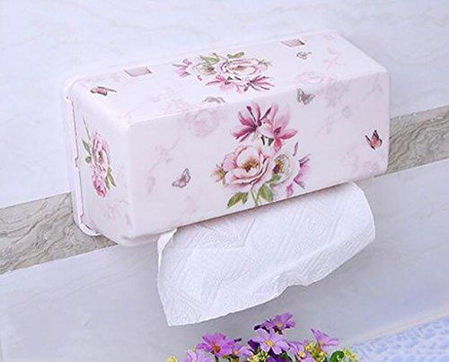 Saug-Tissue-Boxen, Badezimmer-Gewebe-Kasten, Sucker Art Küchen Tissue Box ( Farbe : 1# ) (Mais-suckers)