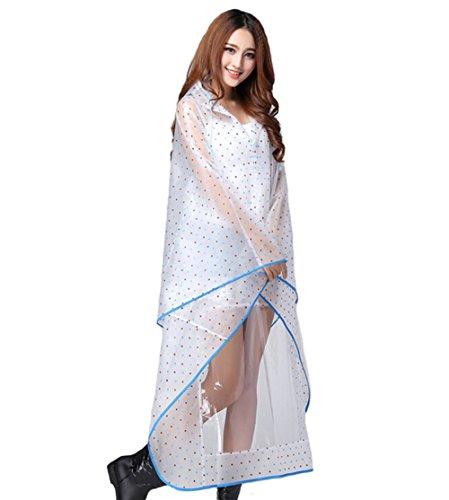 Wiboyeu - Manteau imperméable - Femme Bleu
