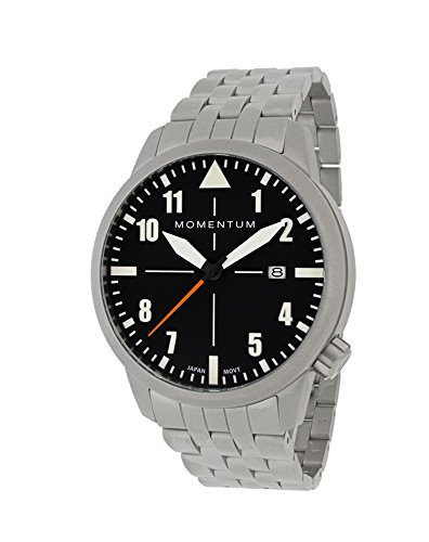 Momentum Men's Analog Automatic-self-Wind Watch with Stainless-Steel Strap 1M-SN92BS0