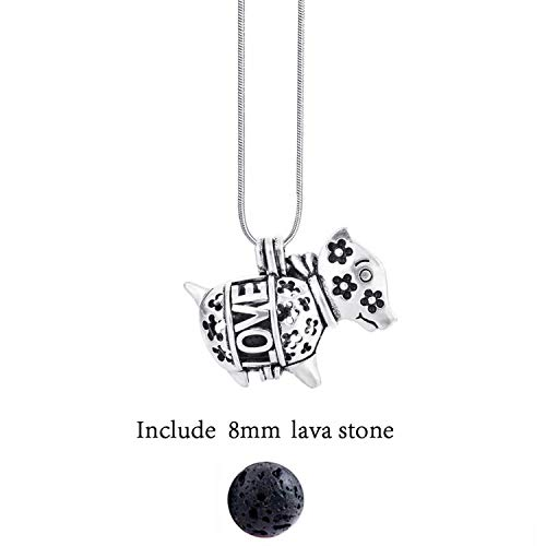 Sunonip Abwechslungsreiche Filz Glow Balls Lavastein Aromatherapie Antique Vintage Halsketten Halskette