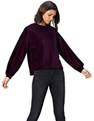 FIND Women's Soft Velour Sleeve Detail Long Sleeve Sweatshirt