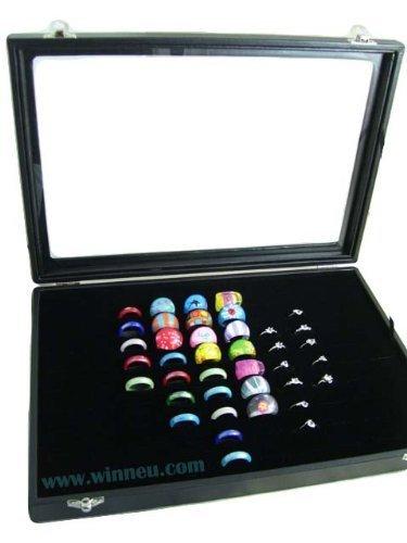 Samt Ringdisplay Ringbox Ringschachtel für 100 Ringe