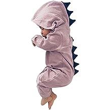 Minetom Bebé Recién Nacido Manga Larga Dinosaurio De La Historieta Abrigo Ropa Una Pieza Peleles Pijamas