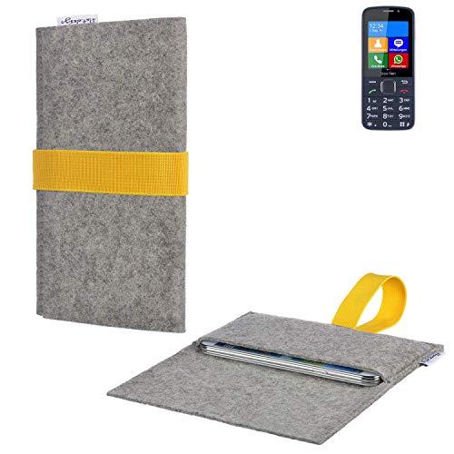 flat.design Handy Hülle Aveiro für bea-fon SL820 handgefertigte Filz Tasche für bea-fon SL820