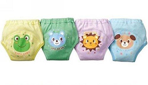 4Pcs Baby Training Pants  LOSORN ZPY Kinder Unterwasche Unterhosen Trainerhosen Topfchentraining, mehrfarbig, 90cm/13kg