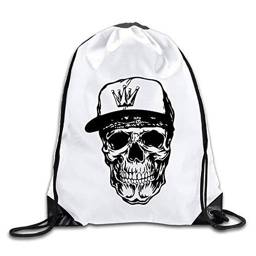 Naiyin Weared Crown Cap Skull Port Bag Drawstring Backpack - Camouflage Crown Cap