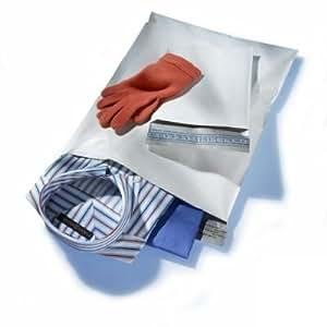 Lot de 10 SACS A POSTER pochettes enveloppes plastiques opaques inviolables 35 x 50 cm