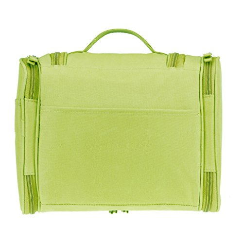 Colleer Multifunctional Large Waterproof Shower Wash Bag with Hook - Green