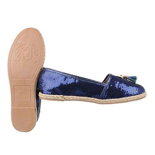 Ital-Design - Pantofole Donna Blau