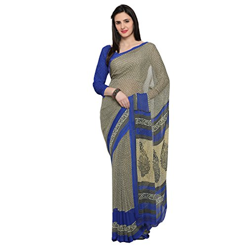Oomph! Women's Chiffon Sarees Party Wear/Fancy Chiffon Saree/Printed Chiffon Saree with Border